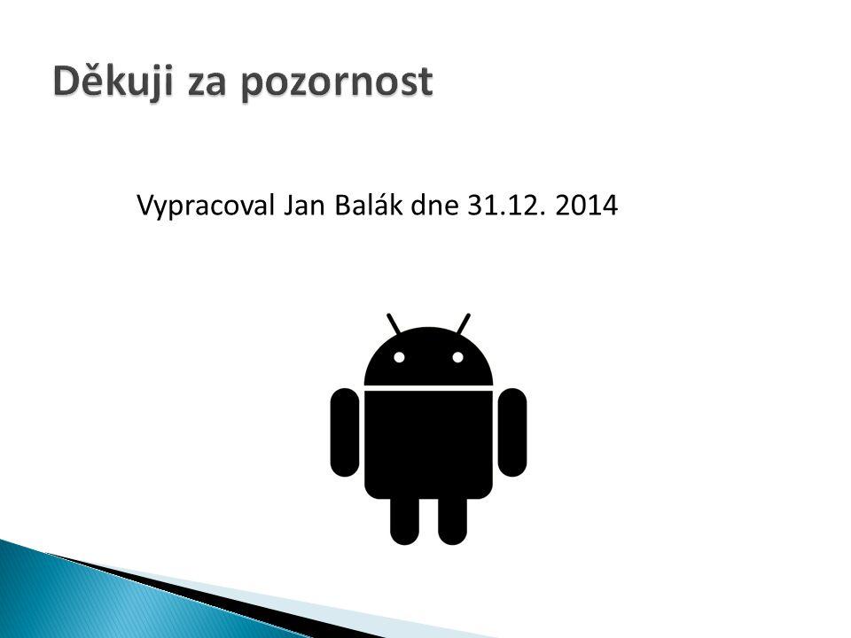 Děkuji za pozornost Vypracoval Jan Balák dne 31.12. 2014