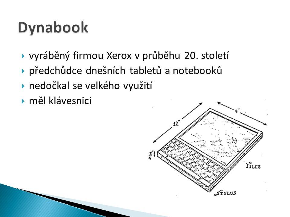 Dynabook vyráběný firmou Xerox v průběhu 20. století