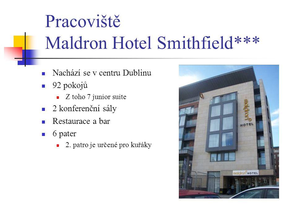 Pracoviště Maldron Hotel Smithfield***