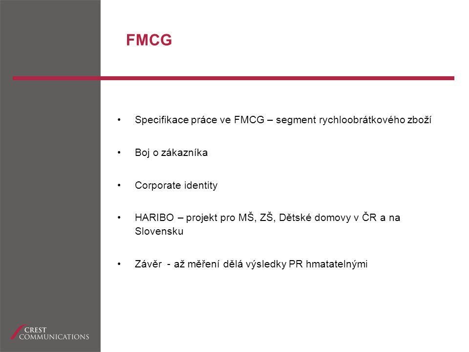 FMCG Specifikace práce ve FMCG – segment rychloobrátkového zboží