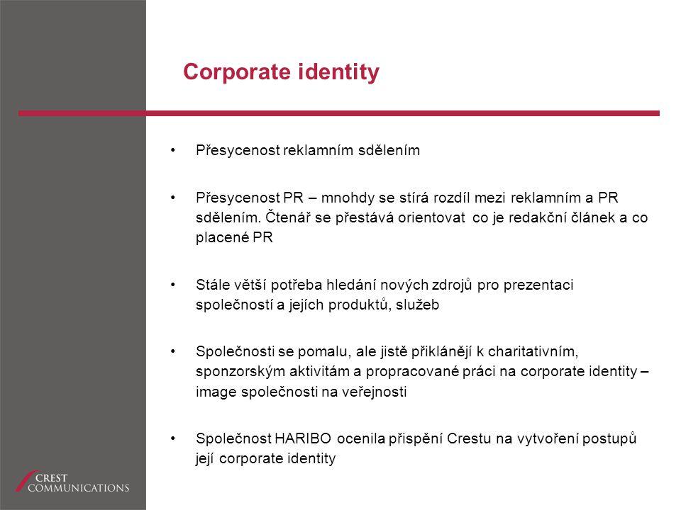 Corporate identity Přesycenost reklamním sdělením