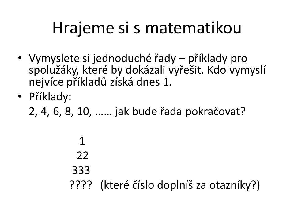 Hrajeme si s matematikou