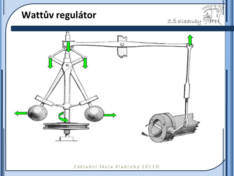 Wattův regulátor Watt je vynálezcem technického zařízení, které vhodným způsobem přivírá nebo otvírá např. ventil.