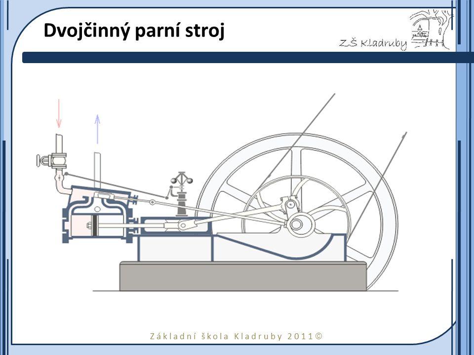 Dvojčinný parní stroj je takový parní stroj, u něhož pára koná práci na obou stranách pístu.