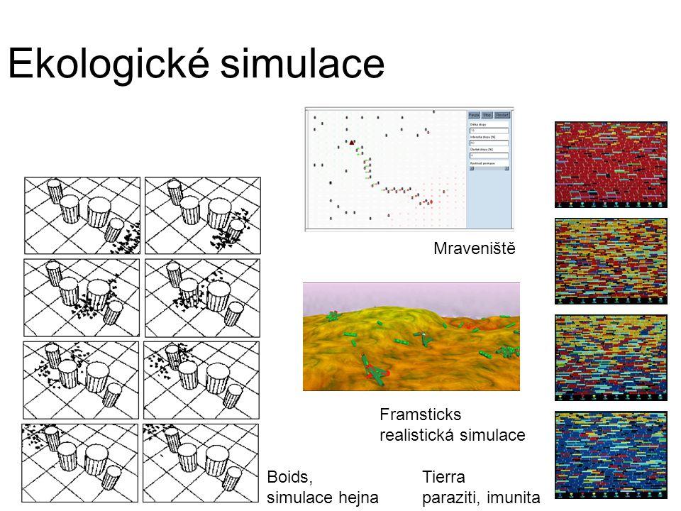 Ekologické simulace Tierra Mraveniště Framsticks realistická simulace