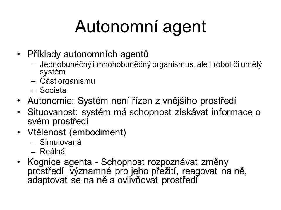 Autonomní agent Příklady autonomních agentů