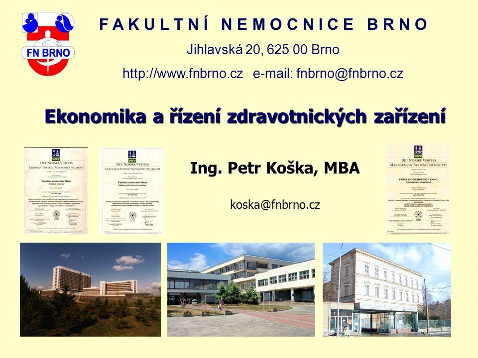Ekonomika a řízení zdravotnických zařízení