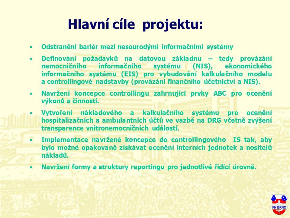 Hlavní cíle projektu: Odstranění bariér mezi nesourodými informačními systémy.