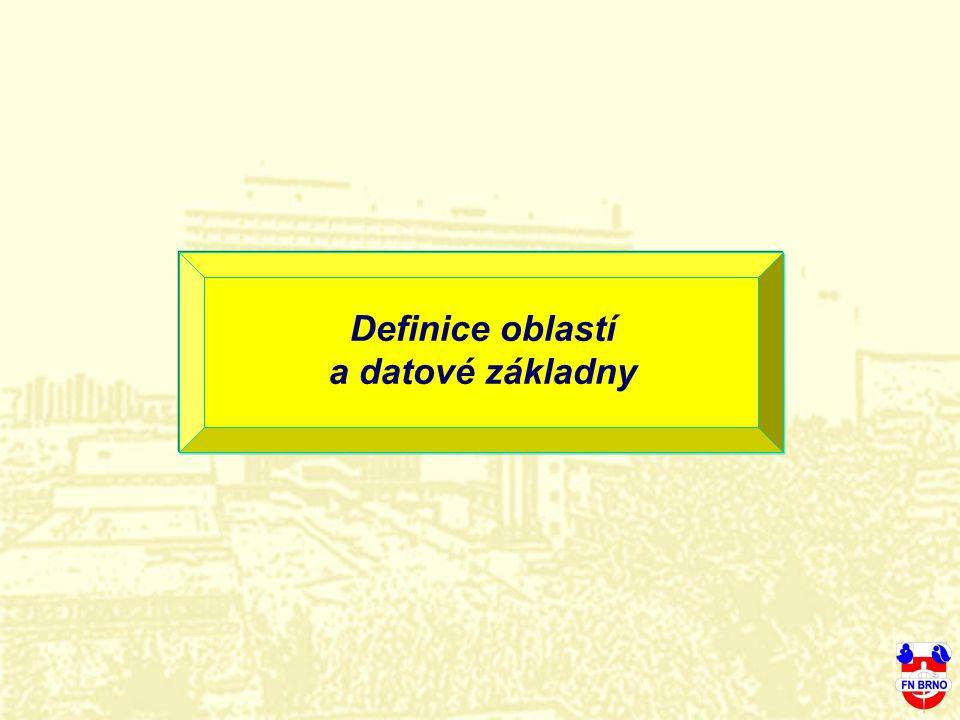 Definice oblastí a datové základny