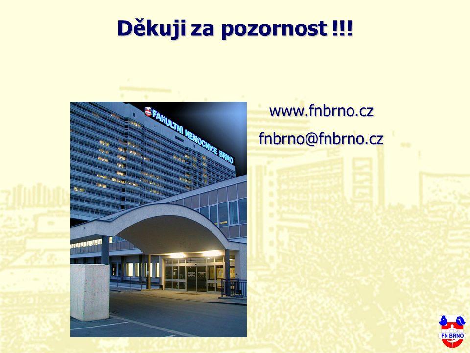 Děkuji za pozornost !!! www.fnbrno.cz fnbrno@fnbrno.cz