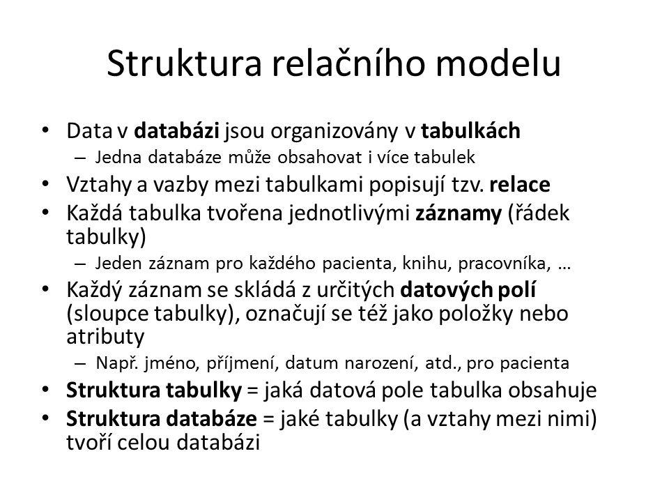 Struktura relačního modelu