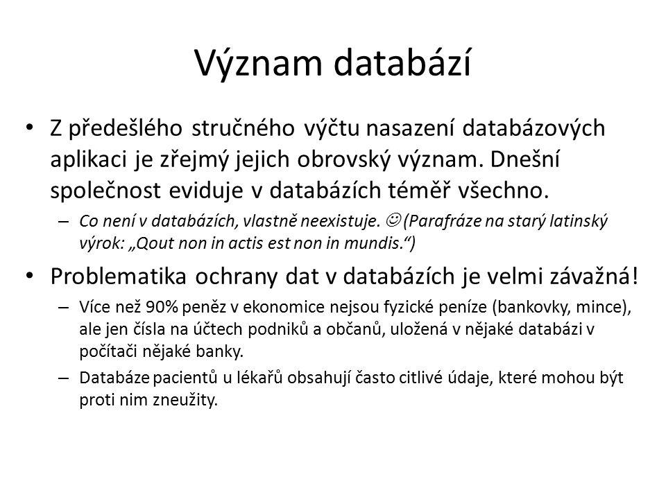 Význam databází