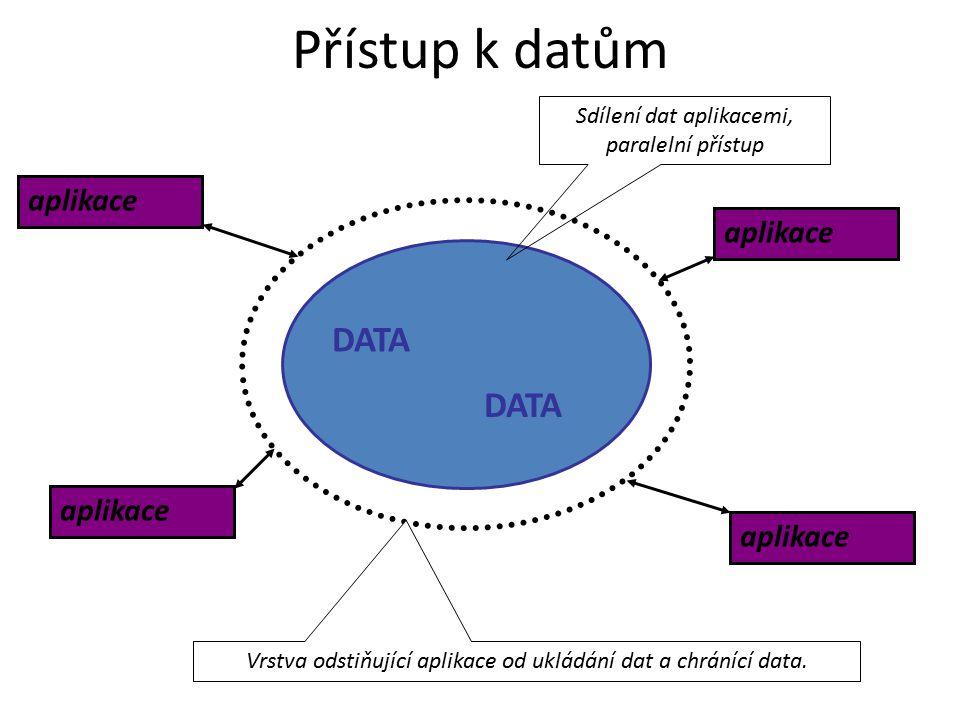 Přístup k datům DATA aplikace