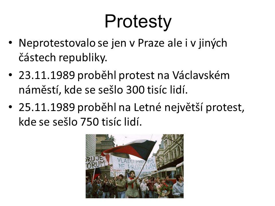 Protesty Neprotestovalo se jen v Praze ale i v jiných částech republiky.