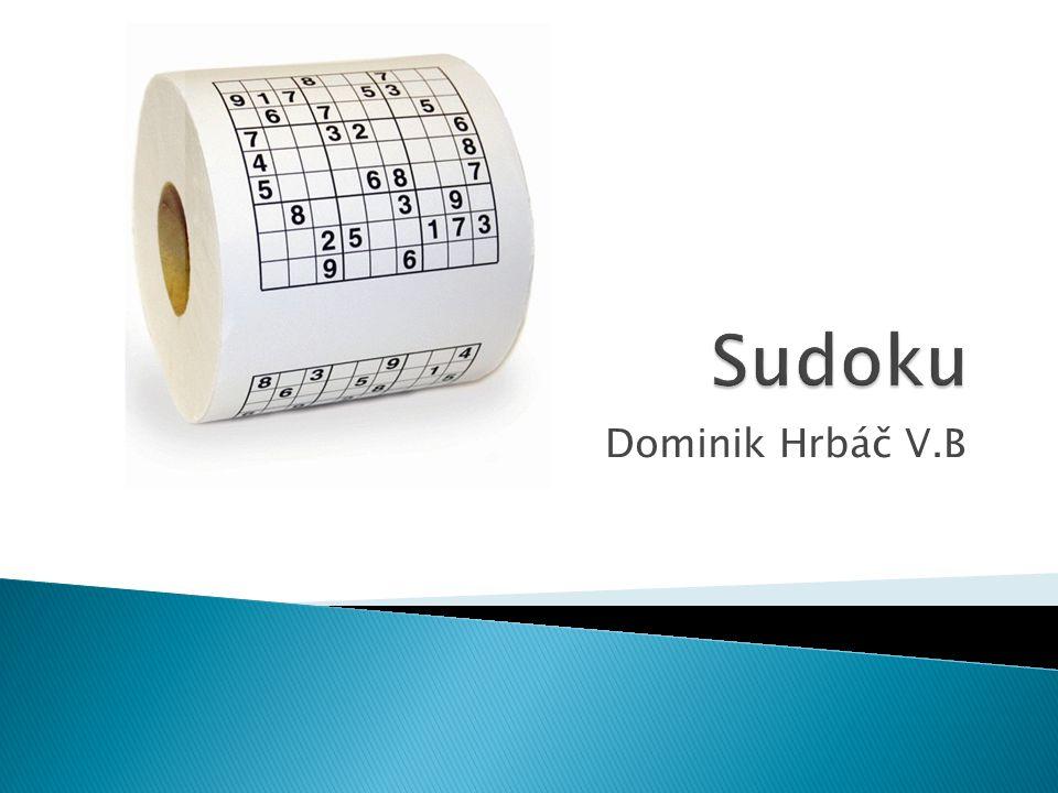 Sudoku Dominik Hrbáč V.B