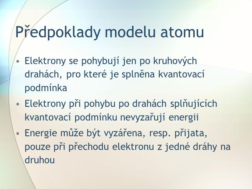 Předpoklady modelu atomu