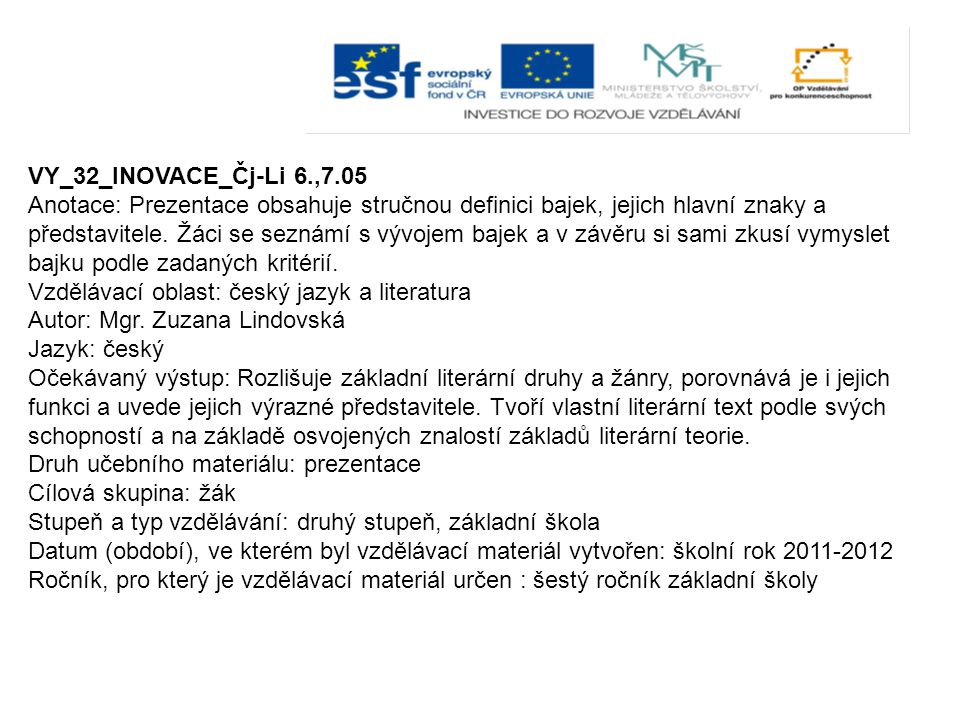 VY_32_INOVACE_Čj-Li 6.,7.05