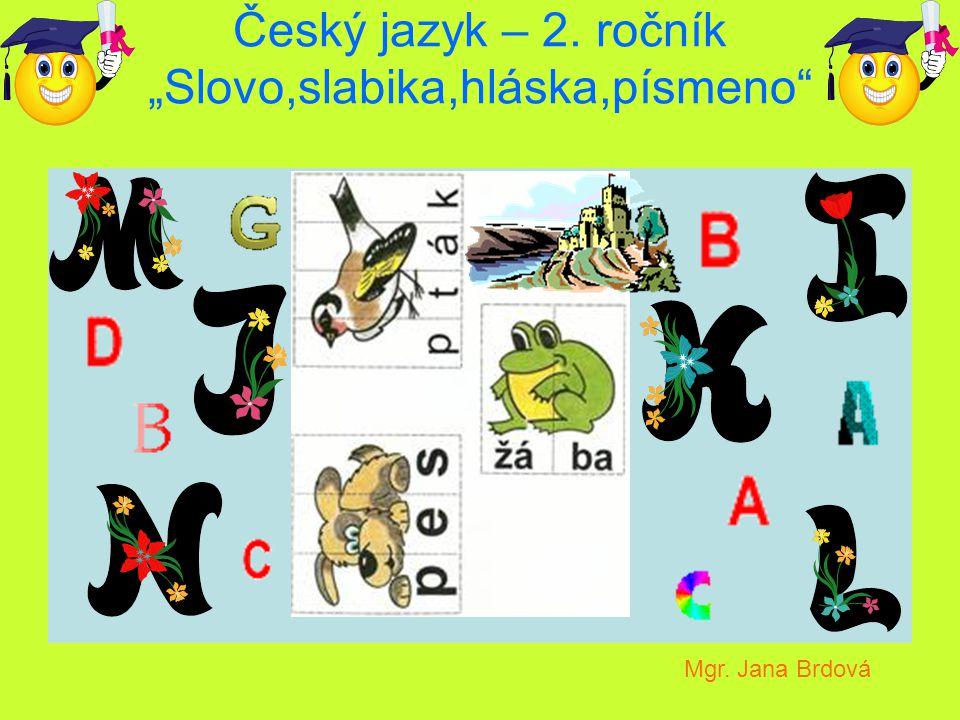 "Český jazyk – 2. ročník ""Slovo,slabika,hláska,písmeno"