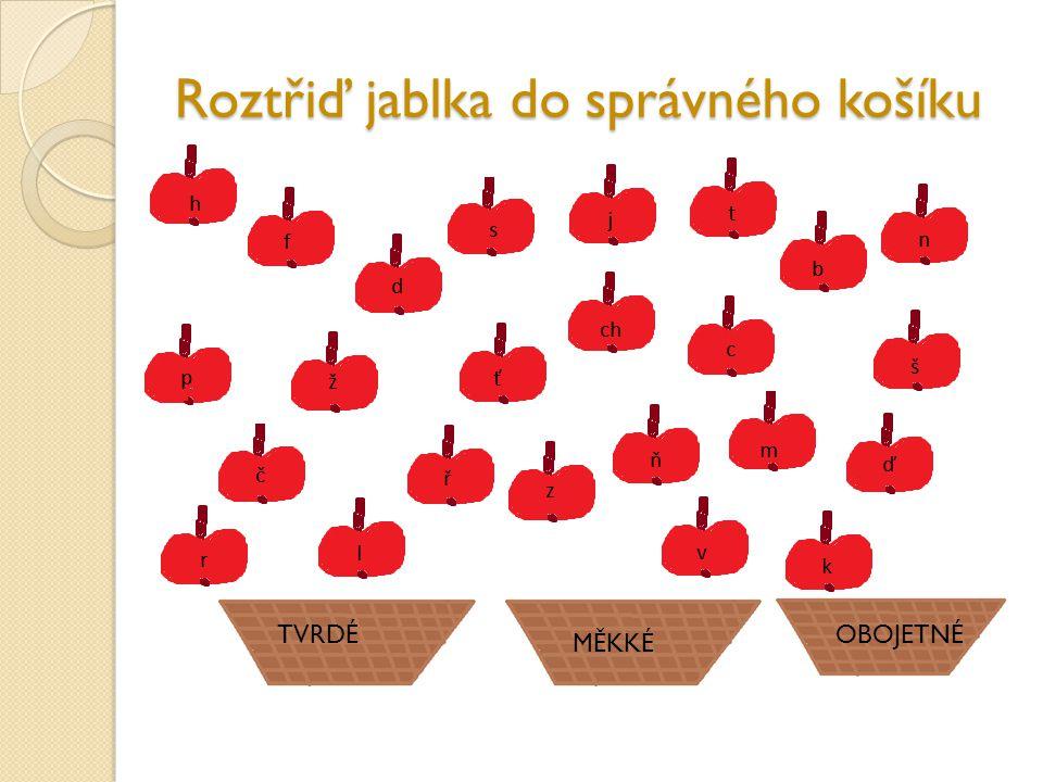 Roztřiď jablka do správného košíku