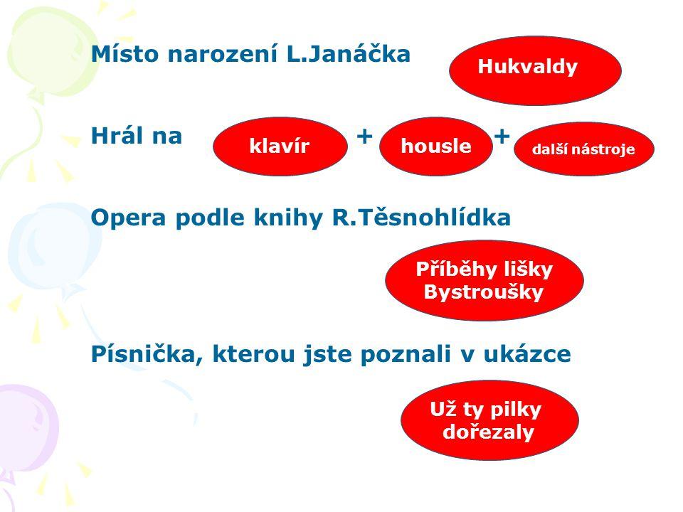 Místo narození L.Janáčka