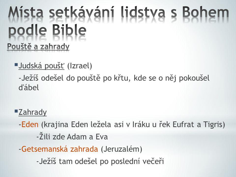Místa setkávání lidstva s Bohem podle Bible