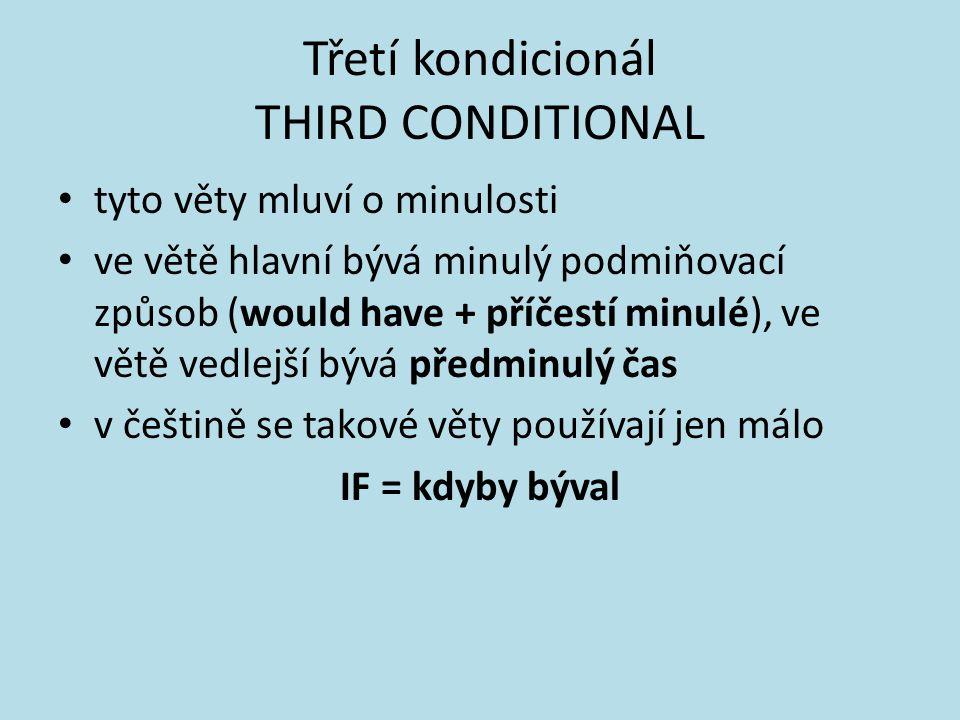 Třetí kondicionál THIRD CONDITIONAL