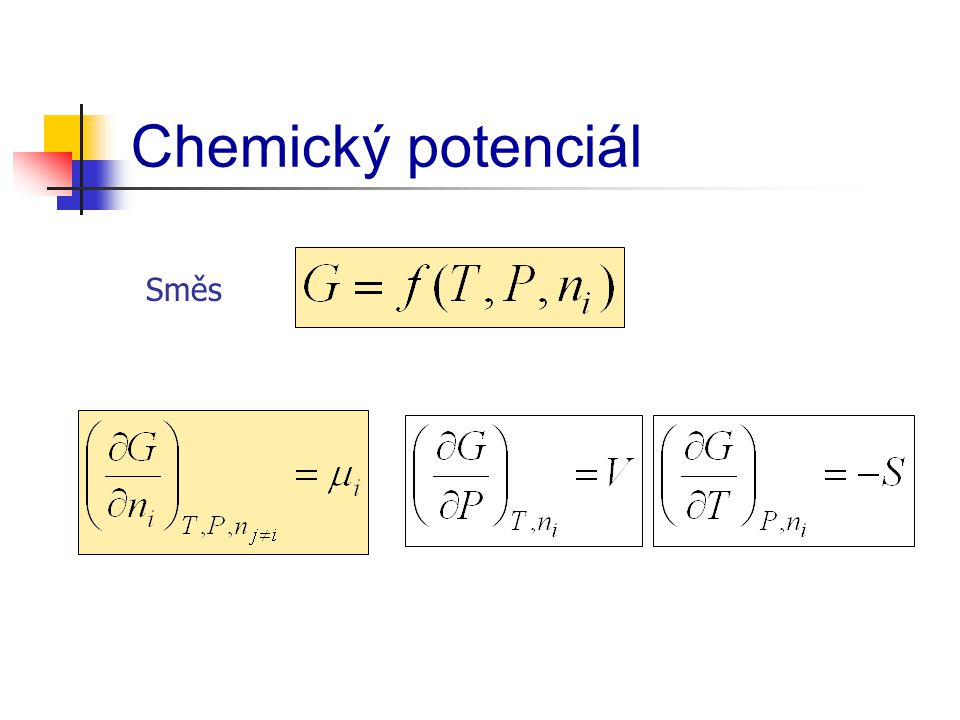 Chemický potenciál Směs