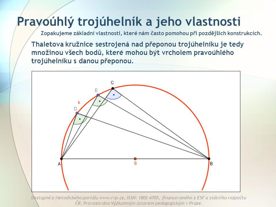 Pravoúhlý trojúhelník a jeho vlastnosti