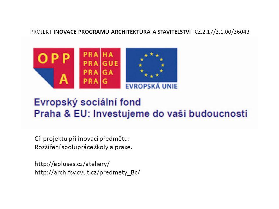Cíl projektu při inovaci předmětu: Rozšíření spolupráce školy a praxe.