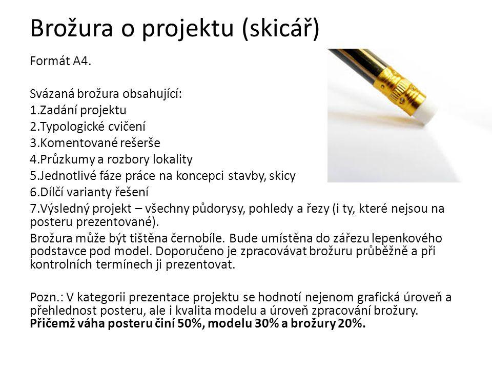Brožura o projektu (skicář)