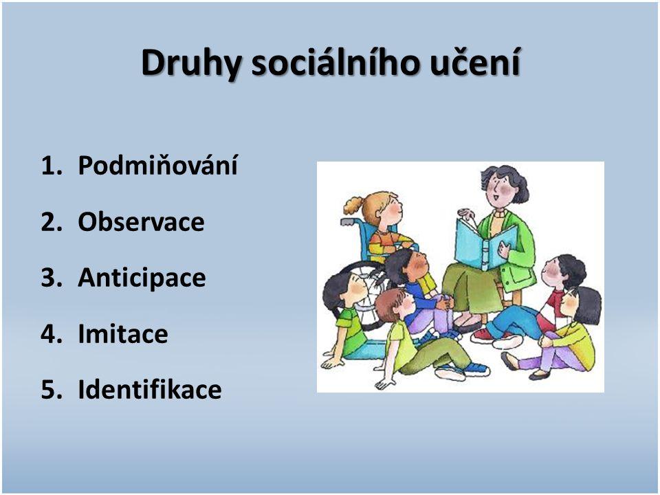 Druhy sociálního učení