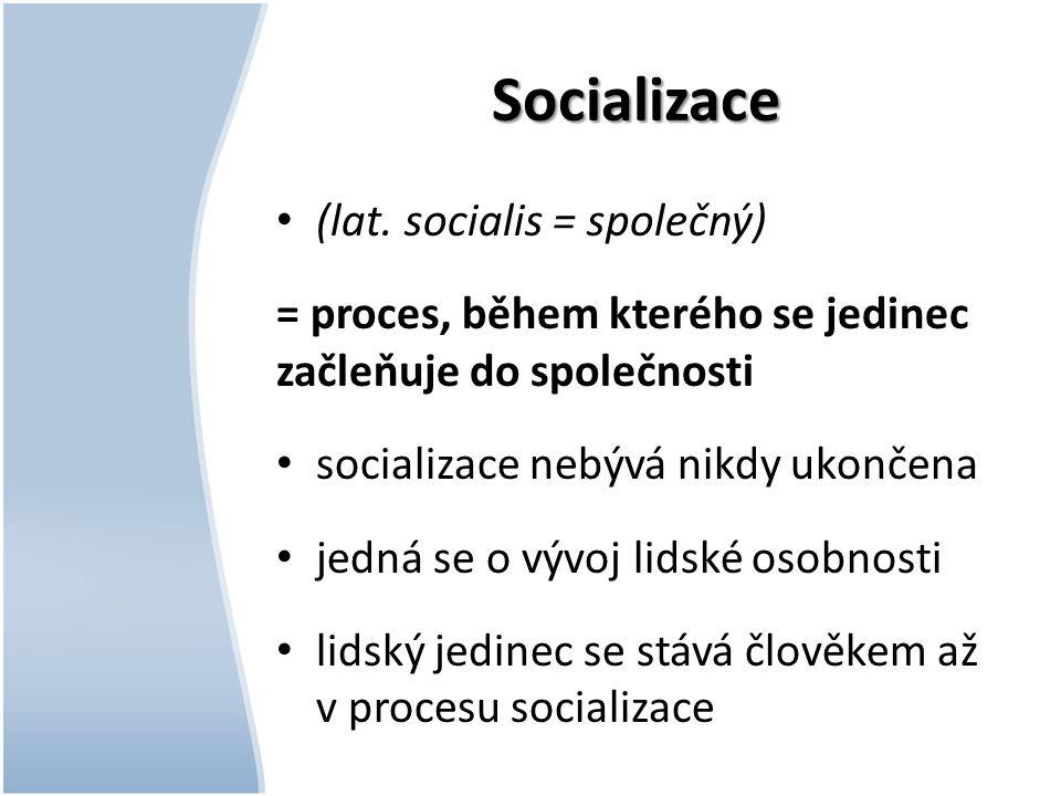 Socializace (lat. socialis = společný)