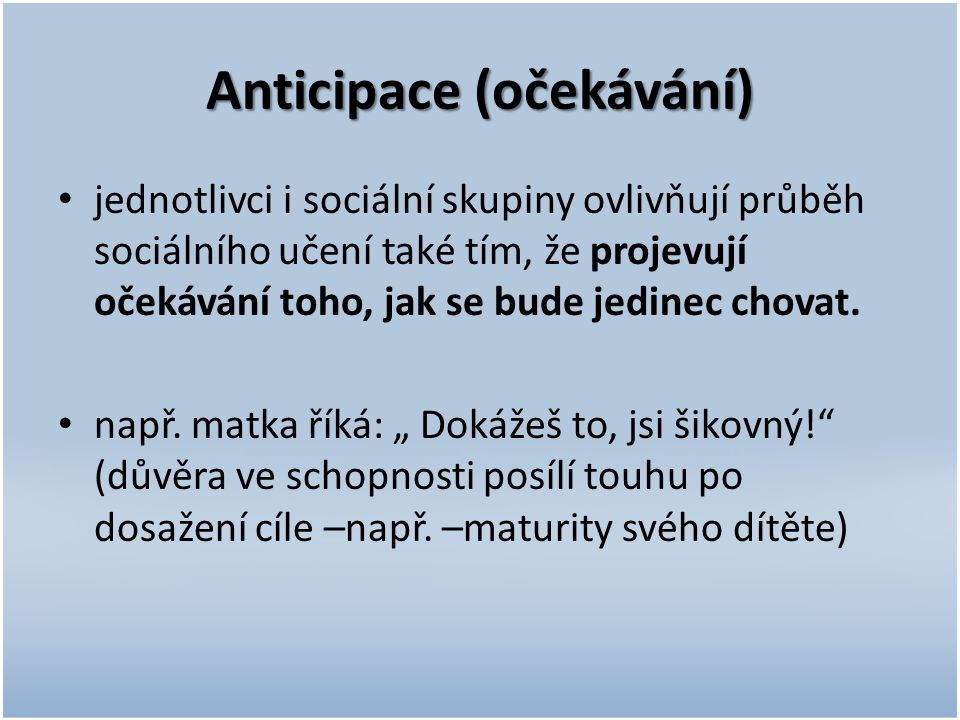 Anticipace (očekávání)