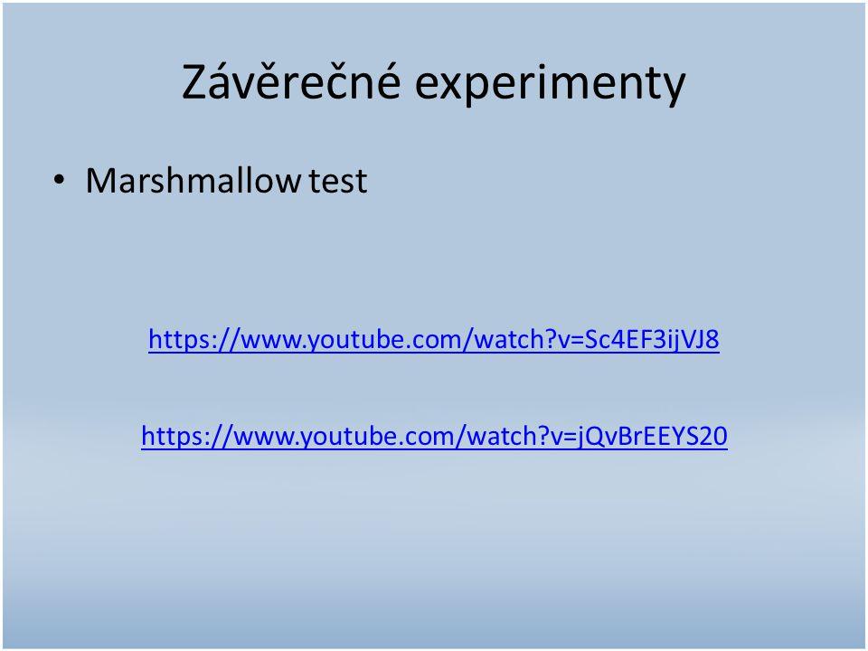 Závěrečné experimenty