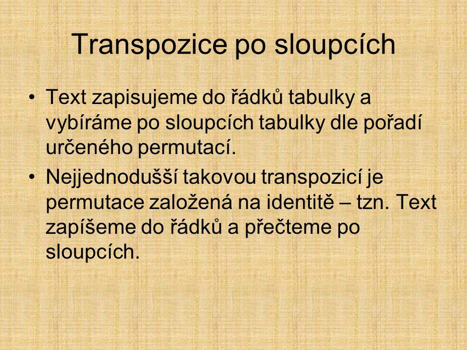 Transpozice po sloupcích