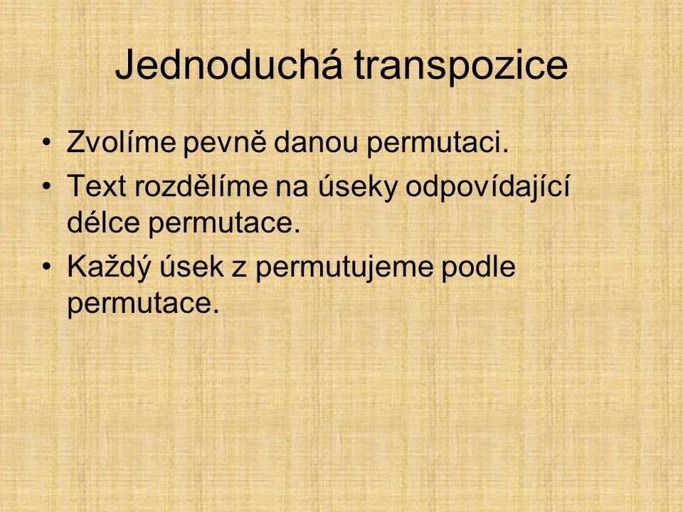 Jednoduchá transpozice