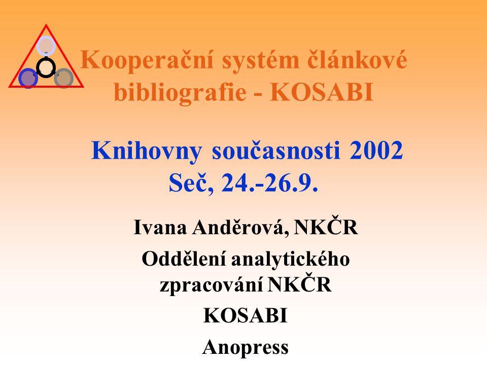 Oddělení analytického zpracování NKČR
