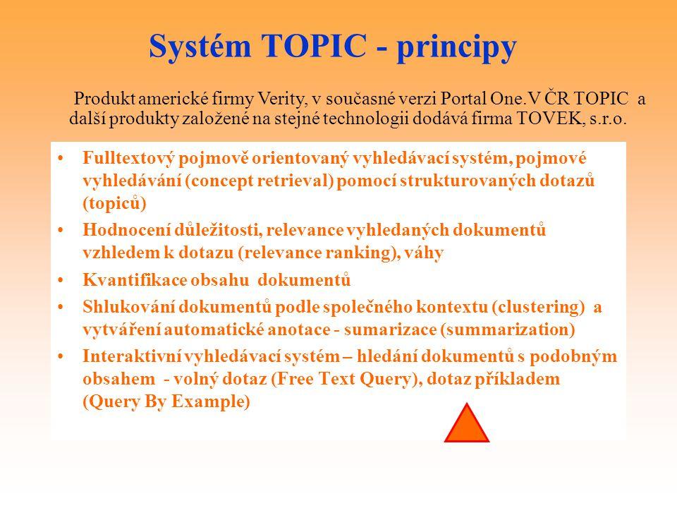 Systém TOPIC - principy