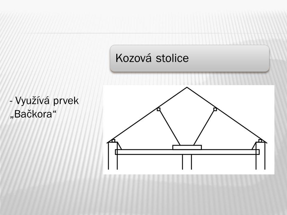 """Kozová stolice - Využívá prvek """"Bačkora"""