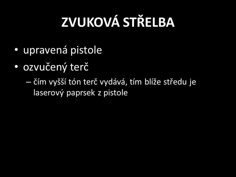 ZVUKOVÁ STŘELBA upravená pistole ozvučený terč