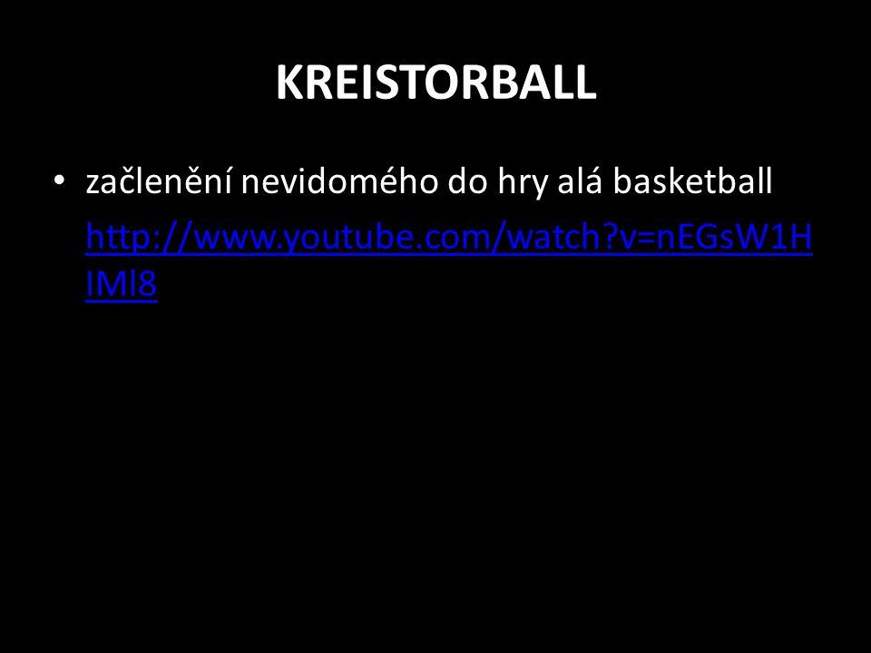 KREISTORBALL začlenění nevidomého do hry alá basketball