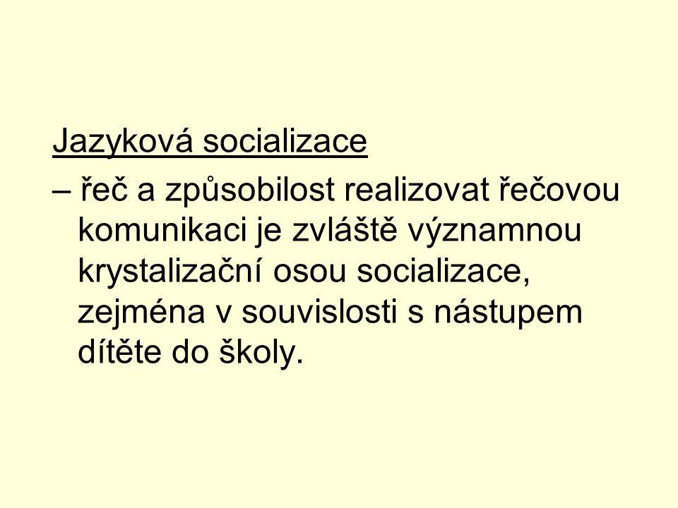 Jazyková socializace