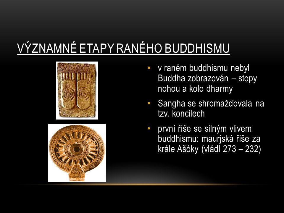 VÝZNAMNÉ ETAPY RANÉHO BUDDHISMU