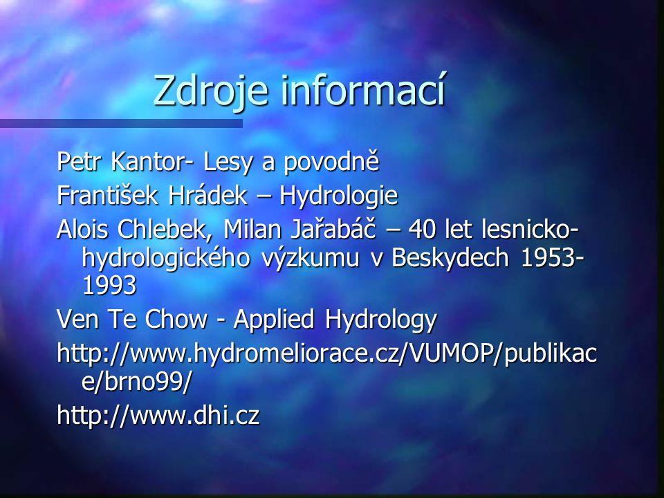 Zdroje informací Petr Kantor- Lesy a povodně