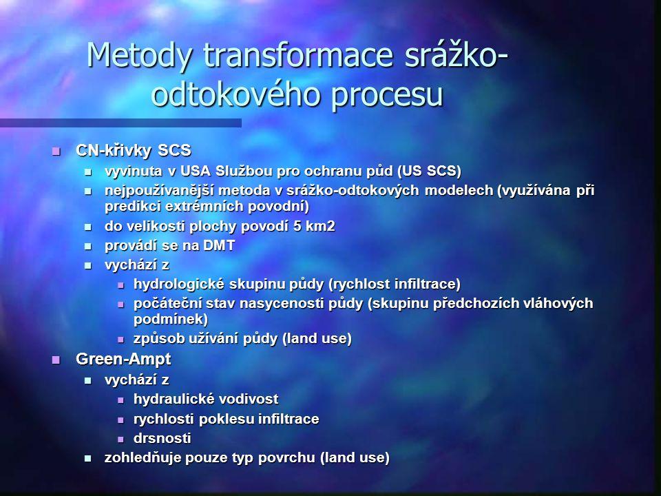 Metody transformace srážko-odtokového procesu