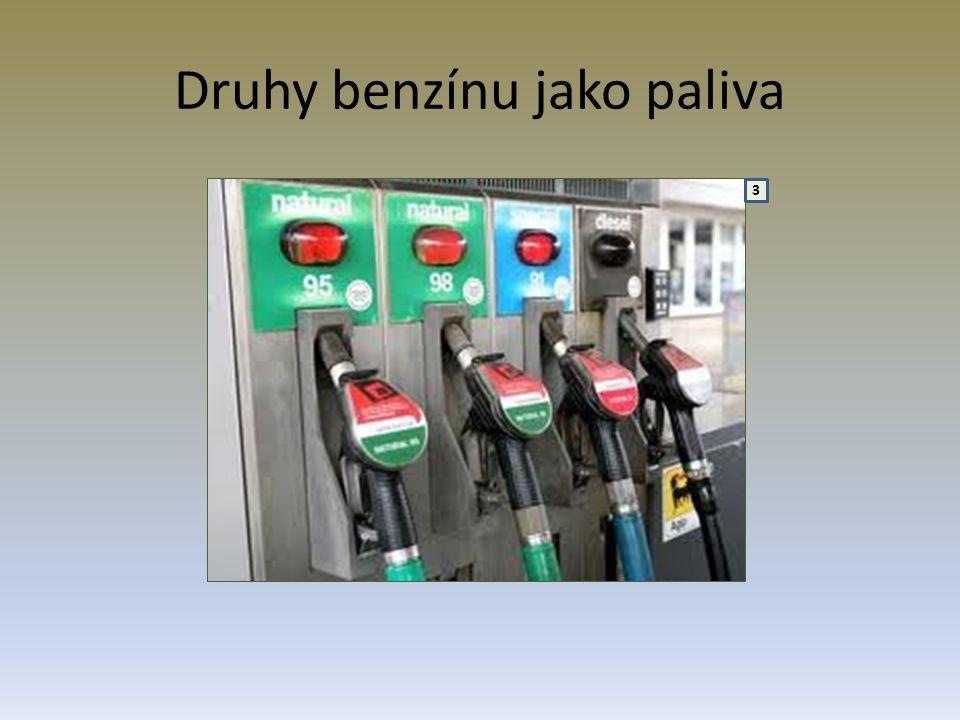 Druhy benzínu jako paliva