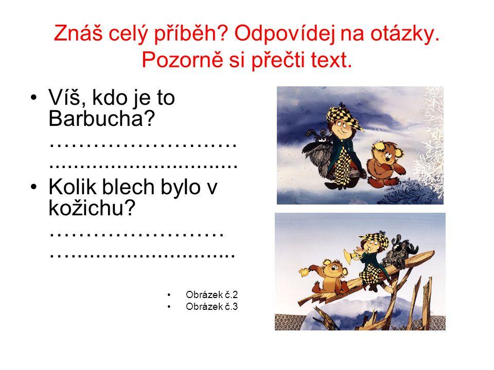 Znáš celý příběh Odpovídej na otázky. Pozorně si přečti text.