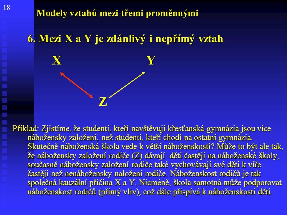 Modely vztahů mezi třemi proměnnými