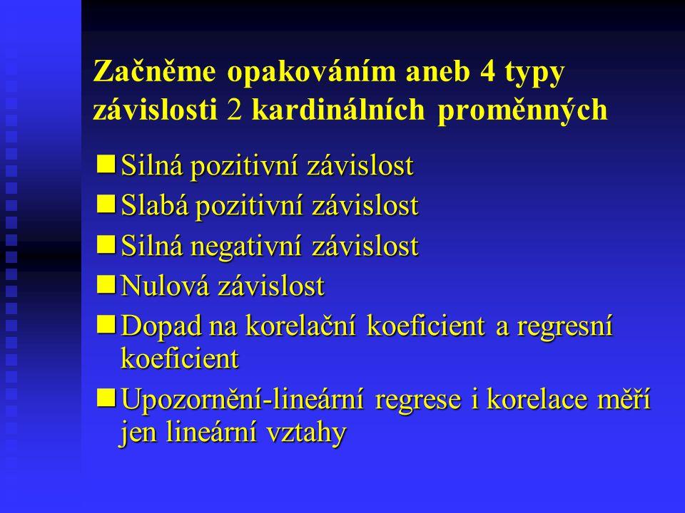 Začněme opakováním aneb 4 typy závislosti 2 kardinálních proměnných