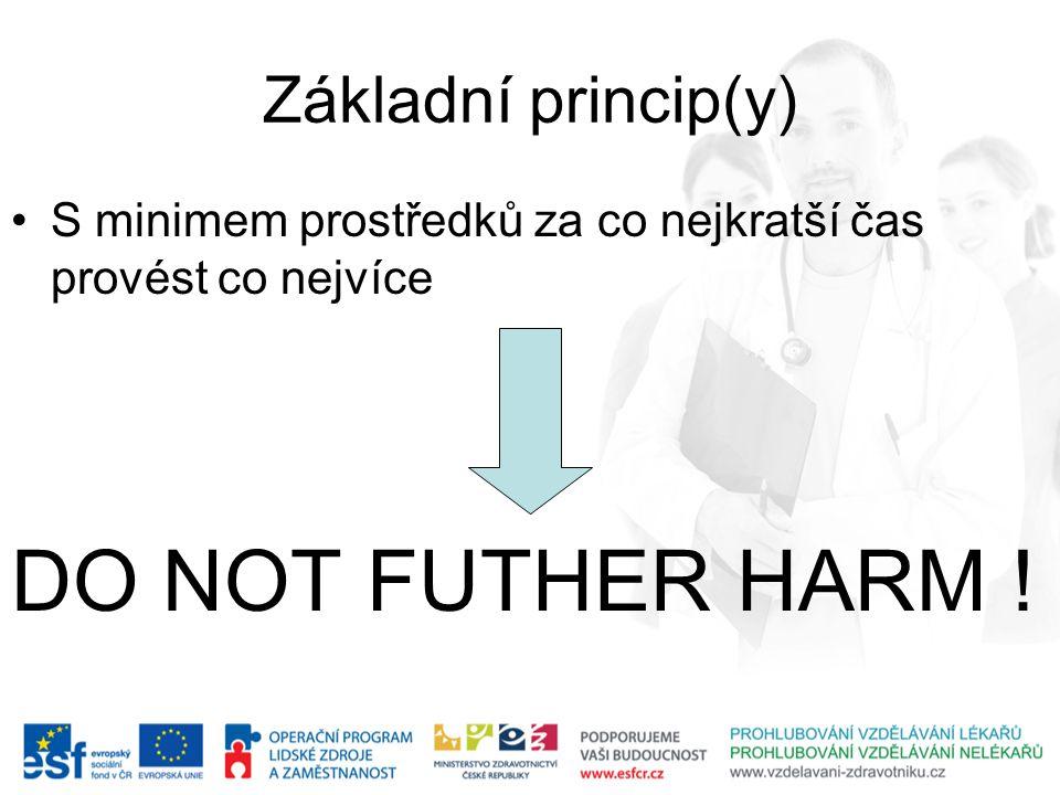 DO NOT FUTHER HARM ! Základní princip(y)